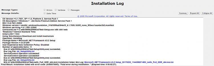 .net 4.5 offline installer windows 7