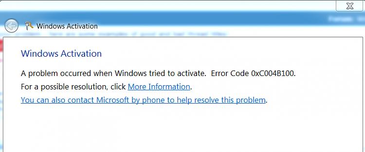 windows wont activate
