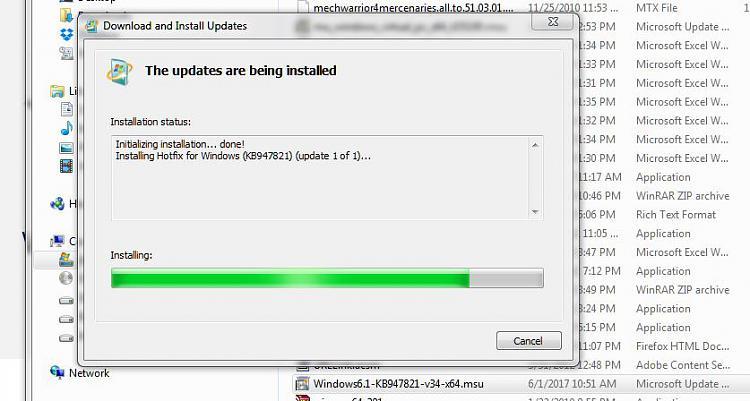 win 7 update service not running, surt and sfc /scannow no help-surt.install.attempt.jpg